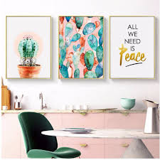 Nordic Home Decor Online Get Cheap Cactus Oil Paintings Aliexpress Com Alibaba Group