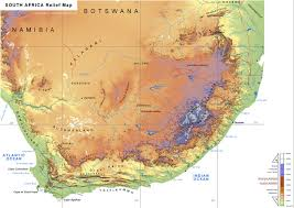 africa map elevation geography and environment south africa