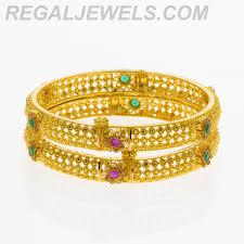 multi colored gold bracelet images Regal jewels online 22kt gold filigree multicolored crystal jpg