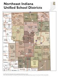 Map Of Northeast Ohio by Unified District Boundary Maps Stats Indiana