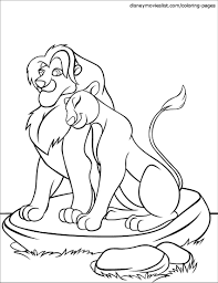 film outline picture of lion lion king book lion to color lion