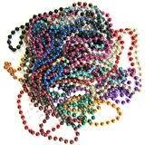 mardi gras bead necklaces metallic mardi gras 144 pieces bulk toys