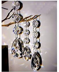 Beaded Chandelier Etsy Amazon Com 5 Pieces Diamond Hanging Crystal Garland Wedding