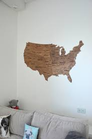 map of usa wall map wooden united states travel rustic home