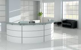 glass top office desk decoration glass top office desk modern white reception with and