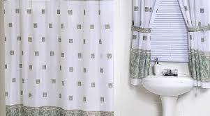 shower and window curtain sets elegant sheer floral green shower