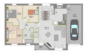plan de maison 100m2 3 chambres maison de 100m2 plan 11 plan de maison moderne gratuit pdf