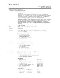 example resume free online