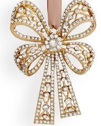 Antique Christmas Ornaments L U0027objet Antique Bow Tie Ornament Gold White Crystals L U0027objet
