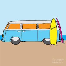 volkswagen van drawing surfing australia vw kombi van digital art by jorgo photography
