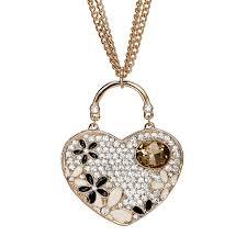long heart pendant necklace images Fringe statement necklace fuchsia long chain fringe necklaces jpg