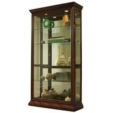 Discount Corner Curio Cabinet Amazon Com Pulaski Two Way Sliding Door Curio 43 By 16 By 80