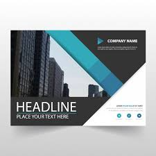 blue horizontal business flyer template vector free download