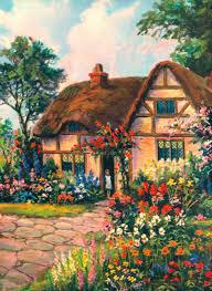 vintage cottage vintage house illustrations pinterest