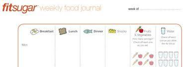 printable daily food intake journal fitsugar s printable food journal popsugar fitness
