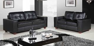 living room leather living room sets with black leather sofa and