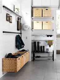 ikea mudroom shelves for bins for each person hooksvfor coats