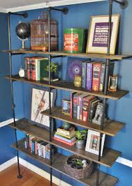 Industrial Pipe Bookcase Industrial Pipe Brass Peacock