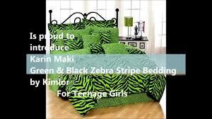 girls zebra bedding lime green and black zebra stripe bedding for teenage girls youtube
