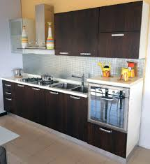 Stainless Steel Kitchen Backsplashes Kitchen Beauteous Image Of Small Modular Kitchen Decoration Using