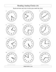 clock worksheets online measurement worksheet reading time on an analog clock in 1 minute