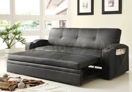 unique leather pull out sofa bed home decorating