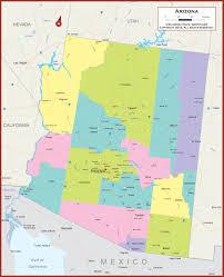 Political Map Us Arizona State Maps Usa Of Az Within Map Gongsa Me