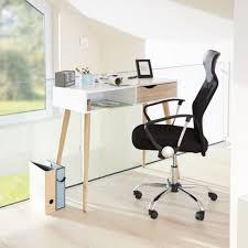 Kleiner Schmaler Schreibtisch Schreibtisch In Weiß Oberfläche Massive Eiche Unbehandelt