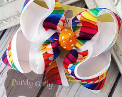 back to school hair bows school hairbows etsy
