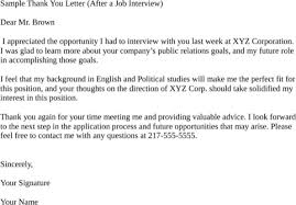 sample email thank you letter for job interview mediafoxstudio com