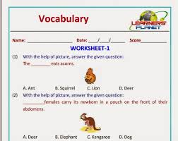 olympiad english vocabulary worksheet grade 1 learners planet