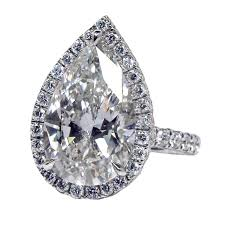 shaped engagement ring magnificent pear shaped diamond ring at 1stdibs