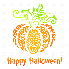 happy halloween free clip art happy halloween ornamental colorful pumpkin vector image 30063