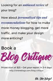 blog design ideas book a blog critique personal blog review oh she blogs