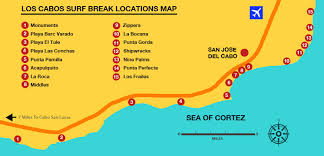 san jose cabo map hotels surfing in cabo surf locations map board rentals lessons