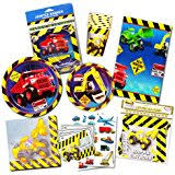 construction party supplies construction zone birthday party supplies set plates