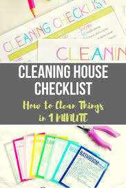house checklist cleaning house checklist how to clean things in 1 minute