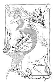 483 best mermaid coloring sheets images on pinterest mermaid