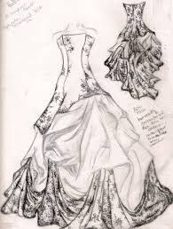 hand painted wedding dress 6 wedding dress sketches sketches