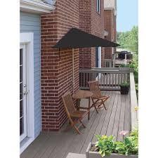 Half Umbrella Patio Blue Terrace Mates Caleo Economy 5 Patio Bistro