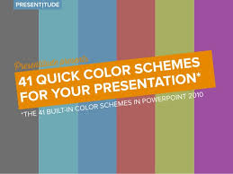 powerpoint design colors 41 quick color themes for your presentation
