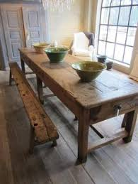 Solid Wood Kitchen Tables Cute Rustic Kitchen Table With Bench - Long kitchen tables