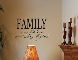 amazon com family is where our story begins vinyl wall decals amazon com family is where our story begins vinyl wall decals quotes sayings words art d home kitchen