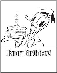 happy birthday cake donald duck birthday happy