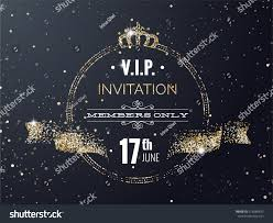 Invitation Cards Design With Ribbons Vip Party Premium Invitation Card Poster Stock Vector 418588837