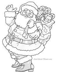 santa sleigh coloring kids coloring