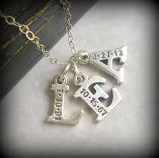 3 initial monogram necklace sterling silver christmas gift for personalized initials christmas jewelry