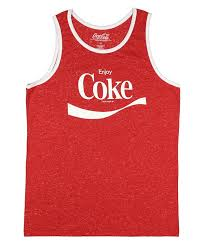 coca cola enjoy coke graphic tank top x large 46 48 at amazon