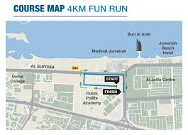 Map Run Route by Routes U0026 Maps Standard Chartered Dubai Marathon 2017