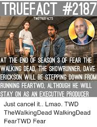 Walking Dead Season 3 Memes - truefact 2187 twdtruefacts at the end of season 3 of fear the
